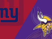 Minnesota Vikings vs New York Giants