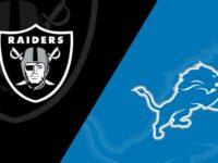Detroit Lions vs Oakland Raiders