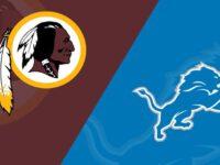 Detroit Lions vs Washington Redskins