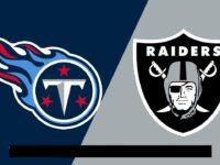 Tennessee Titans vs Oakland Raiders