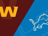 Washington Football Team vs Detroit Lions